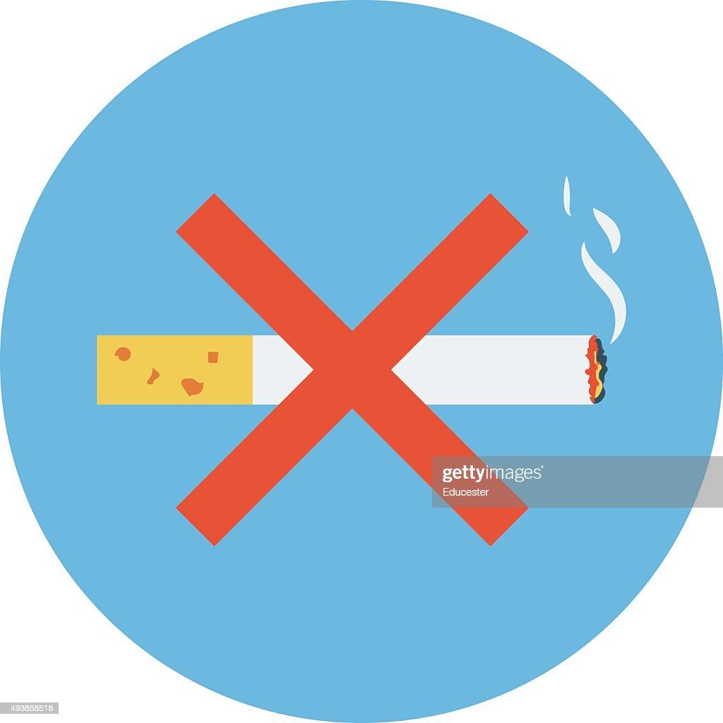 No Smoking Colored Vector Icon