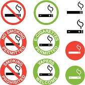 No Smoking, E-Cigarettes Only Signs
