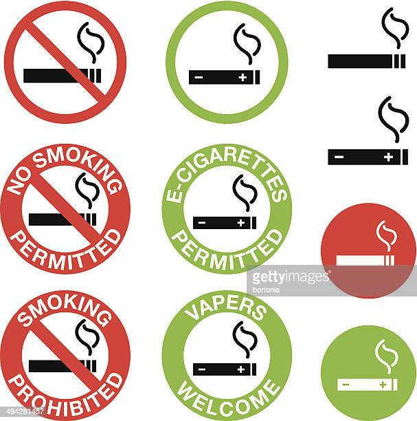 no smoking, e-cigarettes only signs - smoke stock illustrations, clip art, cartoons, & icons