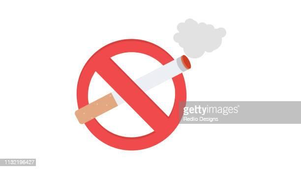 illustrations, cliparts, dessins animés et icônes de icône non fumeur - panneau stop