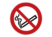 no smoking sign - cigarette smoking prohibited sign -