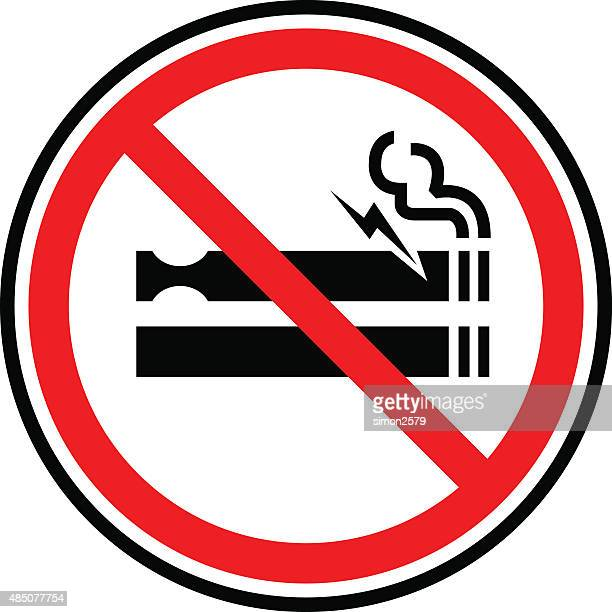 no smoking sign icon - smoke stock illustrations, clip art, cartoons, & icons