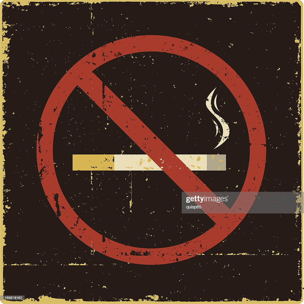 No Smoking Sign : stock illustration