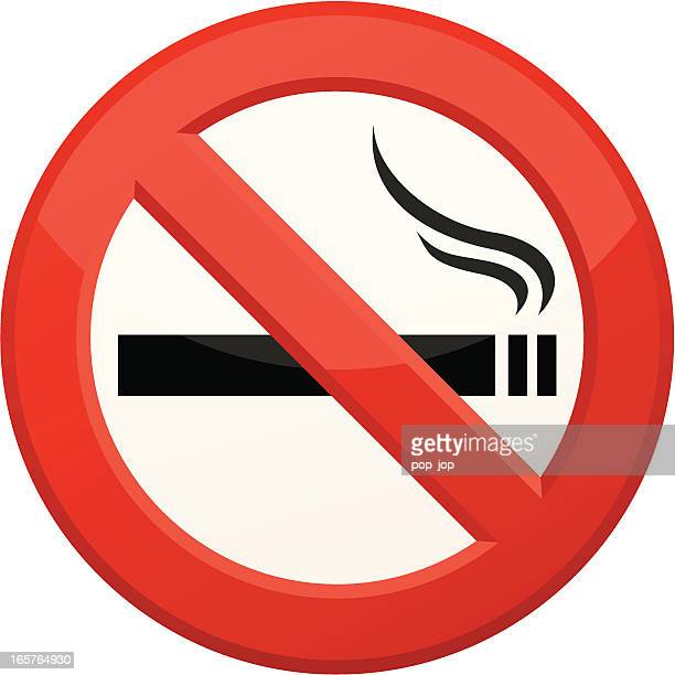 'no smoking' sign - no smoking sign stock illustrations