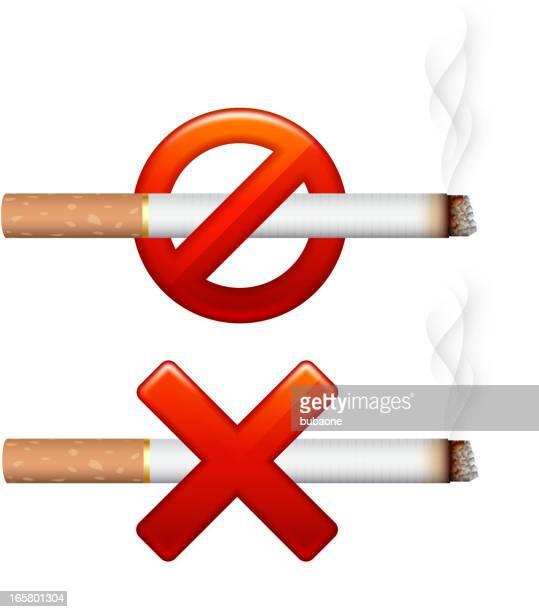 no smoking sign - crossed out stock illustrations