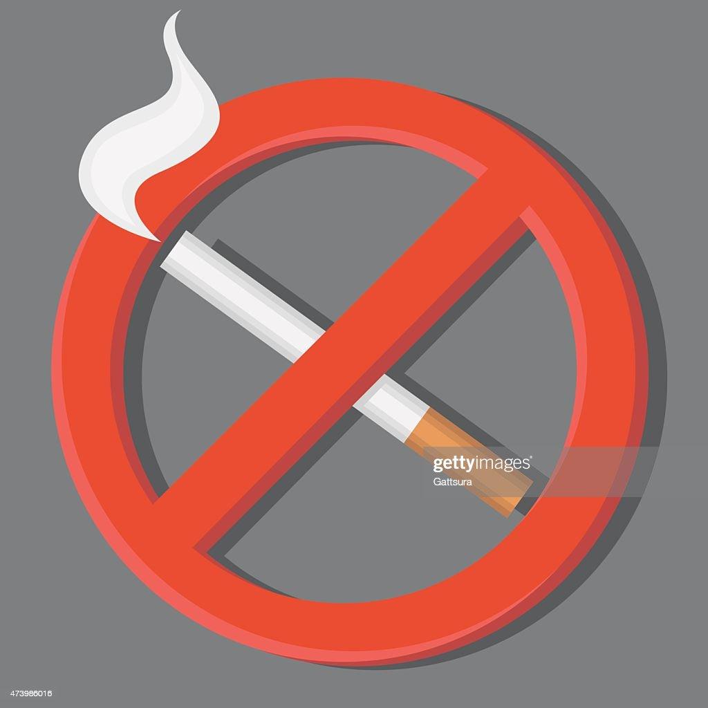 No smoking sign. Знак не курить.