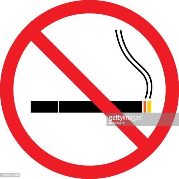 no smoking sign - quitting smoking stock illustrations, clip art, cartoons, & icons