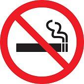 No smoking sign. Vector illustration
