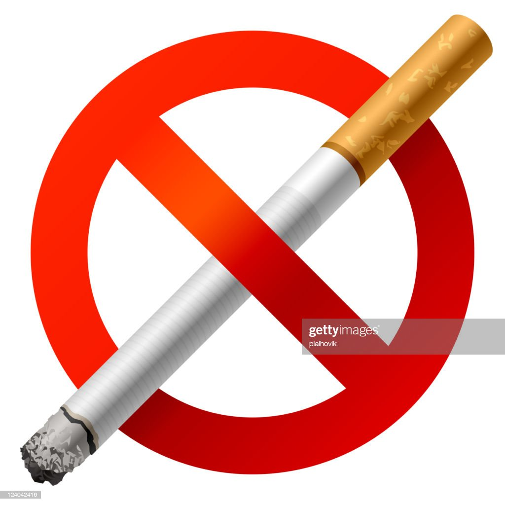 No smoking sign with a large cigarette in the middle