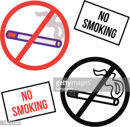 No Smoking Symbol And Sign Vector Art Getty Images