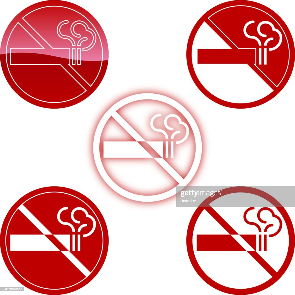 No Smoking Symbol Vector Art Getty Images
