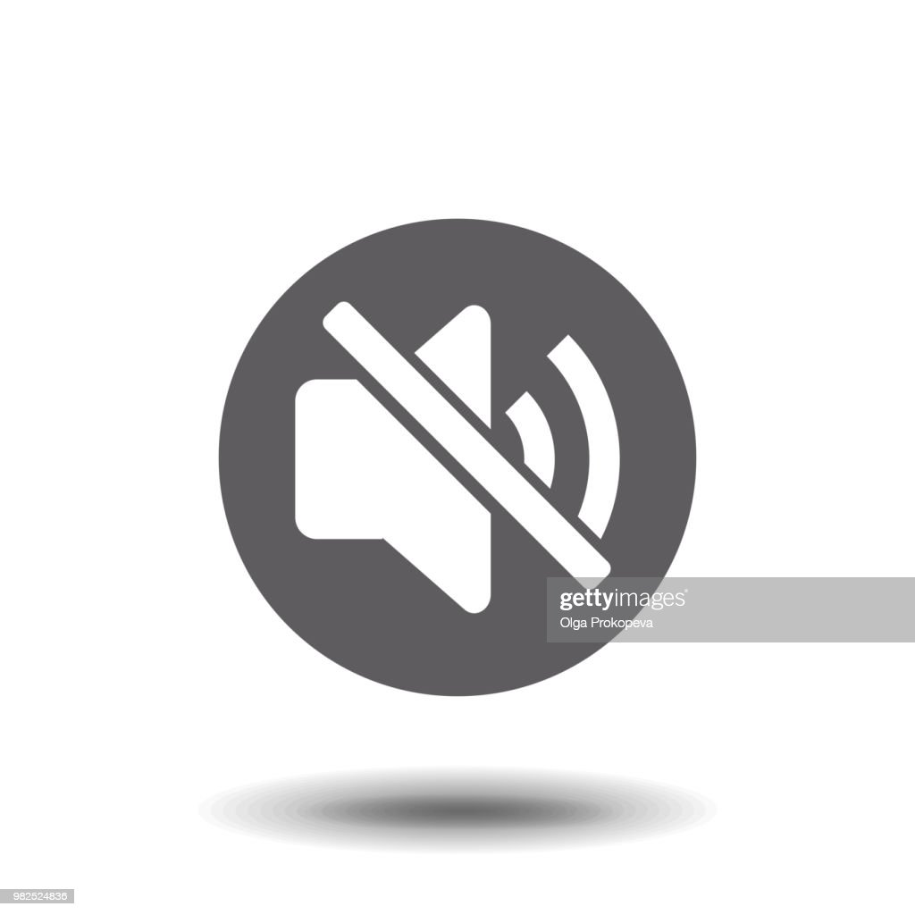 no sound icon illustration isolated vector sign symbol