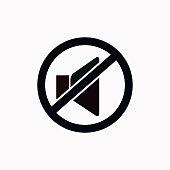 No sound vector  icon.