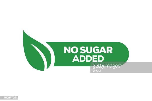 no sugar added badge design - low stock illustrations