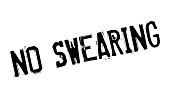No Swearing rubber stamp
