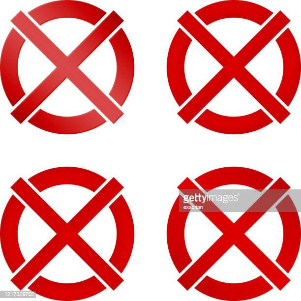 no symbol in four style - wrong way stock illustrations