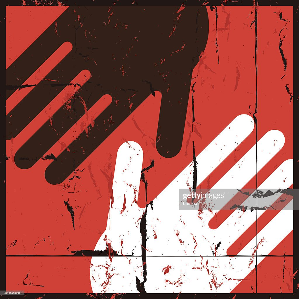 No to racism : Stock Illustration