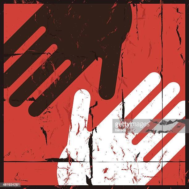 illustrazioni stock, clip art, cartoni animati e icone di tendenza di no per razzismo - giustizia sociale