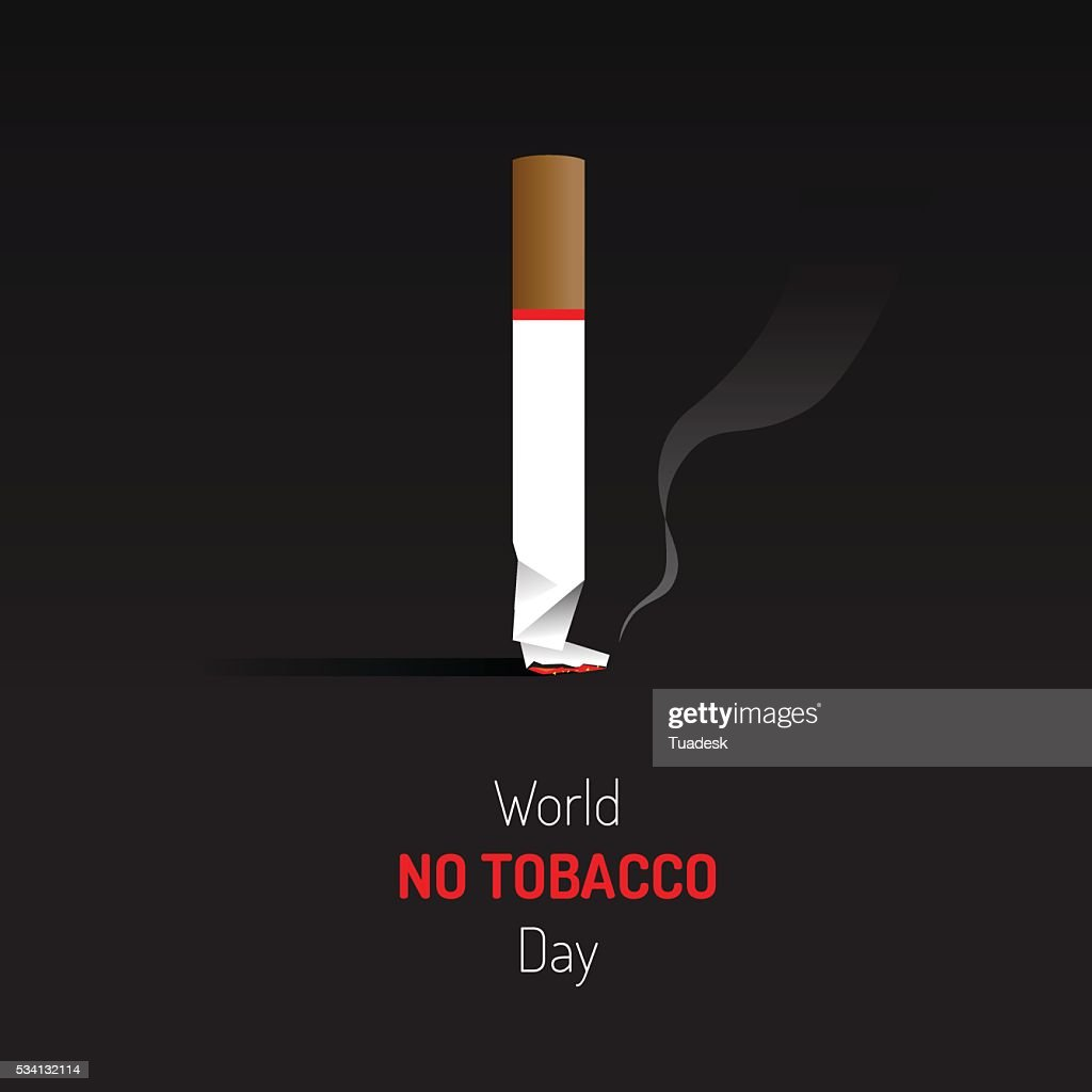 No tobacco day sign and symbol with dark background