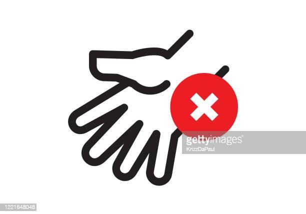 ilustraciones, imágenes clip art, dibujos animados e iconos de stock de sin señal de tocar - evitar