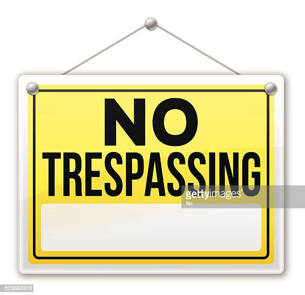 no trespassing sign - private property stock illustrations