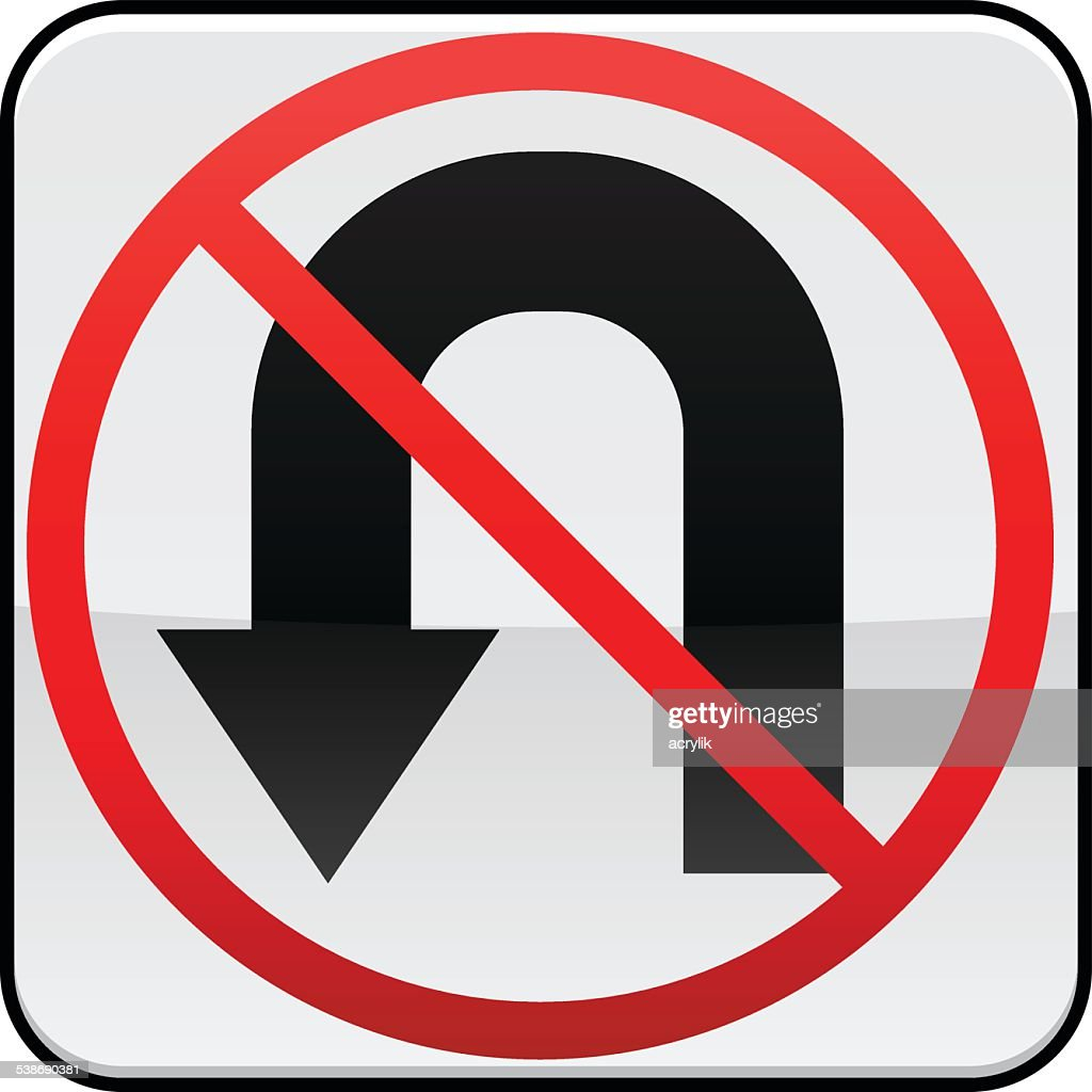 No U Turn traffic sign