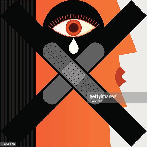 ilustrações, clipart, desenhos animados e ícones de sem violência contra as mulheres - crime