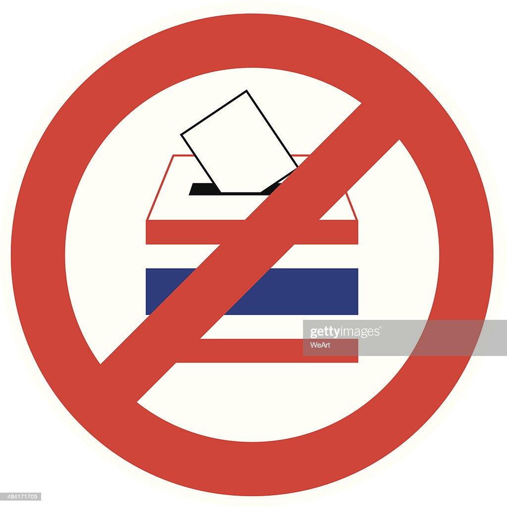 No Vote on a white background, Vector, Illustration