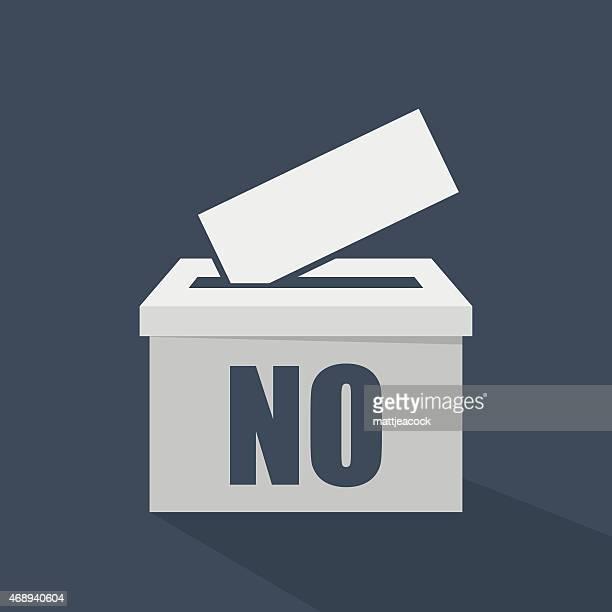 No written on a white voting ballot box