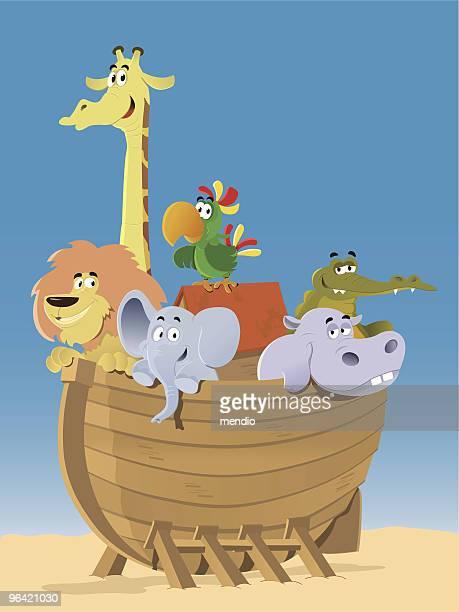 Noah's Ark, animais à espera que a grande vaga