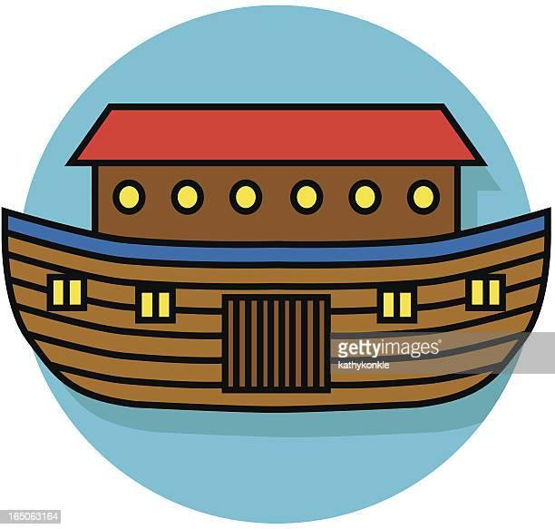 ノアの箱舟アイコン - ノアの方舟点のイラスト素材/クリップアート素材/マンガ素材/アイコン素材