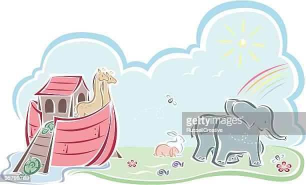 ノアの箱舟 - ノアの方舟点のイラスト素材/クリップアート素材/マンガ素材/アイコン素材