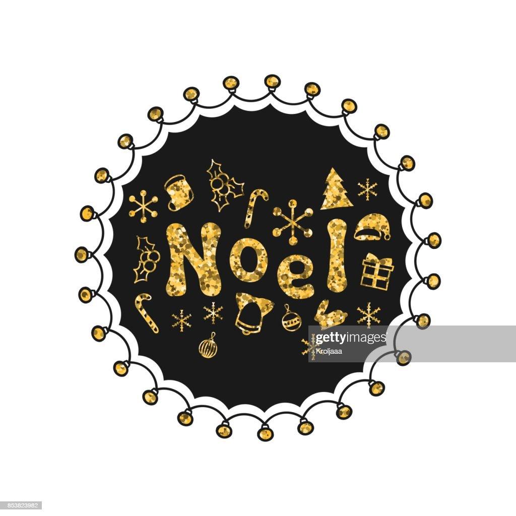 Frohe Weihnachten Glitzer.Noel Kalligraphie Gold Satz Handschriftliche Glitzer Jahreszeiten