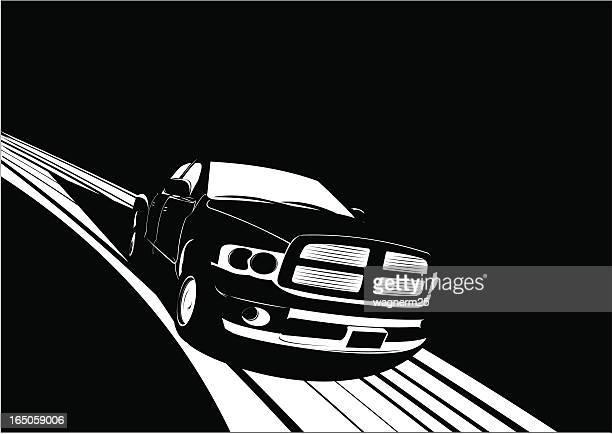 noir truck - suv stock illustrations, clip art, cartoons, & icons