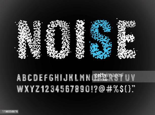 ilustrações, clipart, desenhos animados e ícones de alfabeto da fonte do ruído - caligrafia