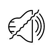 noise reduction icon isolated on white background