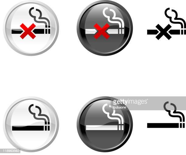 non smoking royalty free vector art - smoke physical structure stock illustrations, clip art, cartoons, & icons