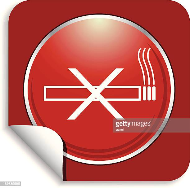 non smoking sticker - quitting smoking stock illustrations, clip art, cartoons, & icons