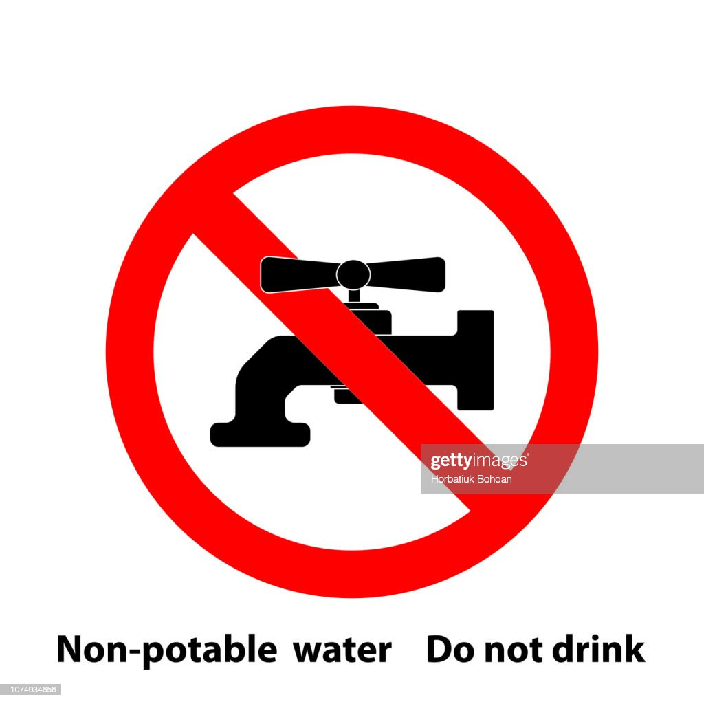 non-potable water attention plate sticker