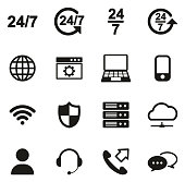 Nonstop Service or 247 Service Icons