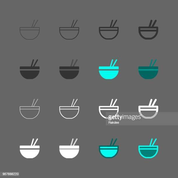 noodle bowl icon - multi series - chopsticks stock illustrations, clip art, cartoons, & icons