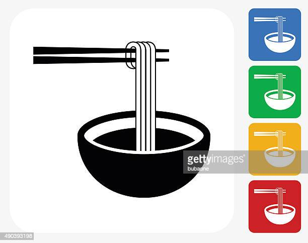 Noodle Soup Icon Flat Graphic Design