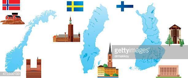 nordic countries - helsinki stock illustrations, clip art, cartoons, & icons