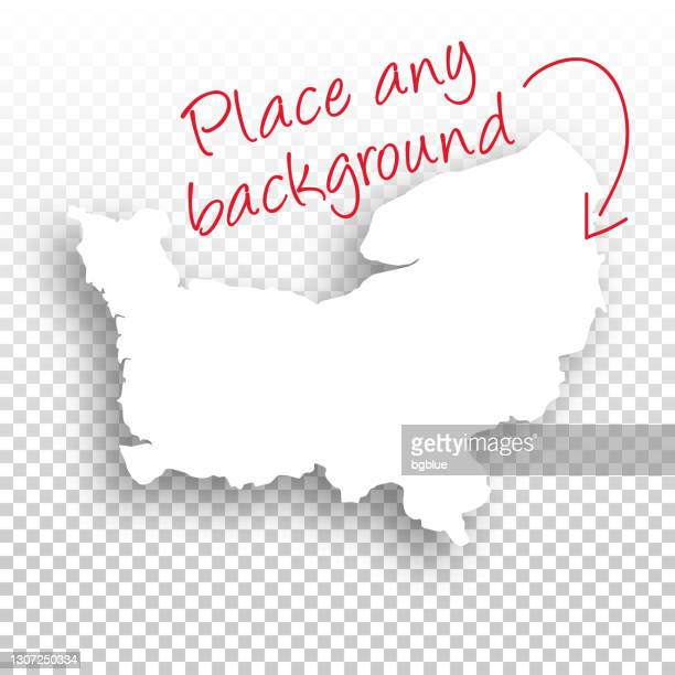 normandy map for design - blank background - normandy stock illustrations