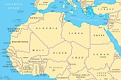 North Africa countries political map