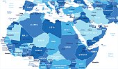 North Africa map - Blue Spot - curves 10