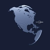 North America. Earth globe. Global business marketing concept.