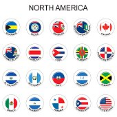North America - Flags