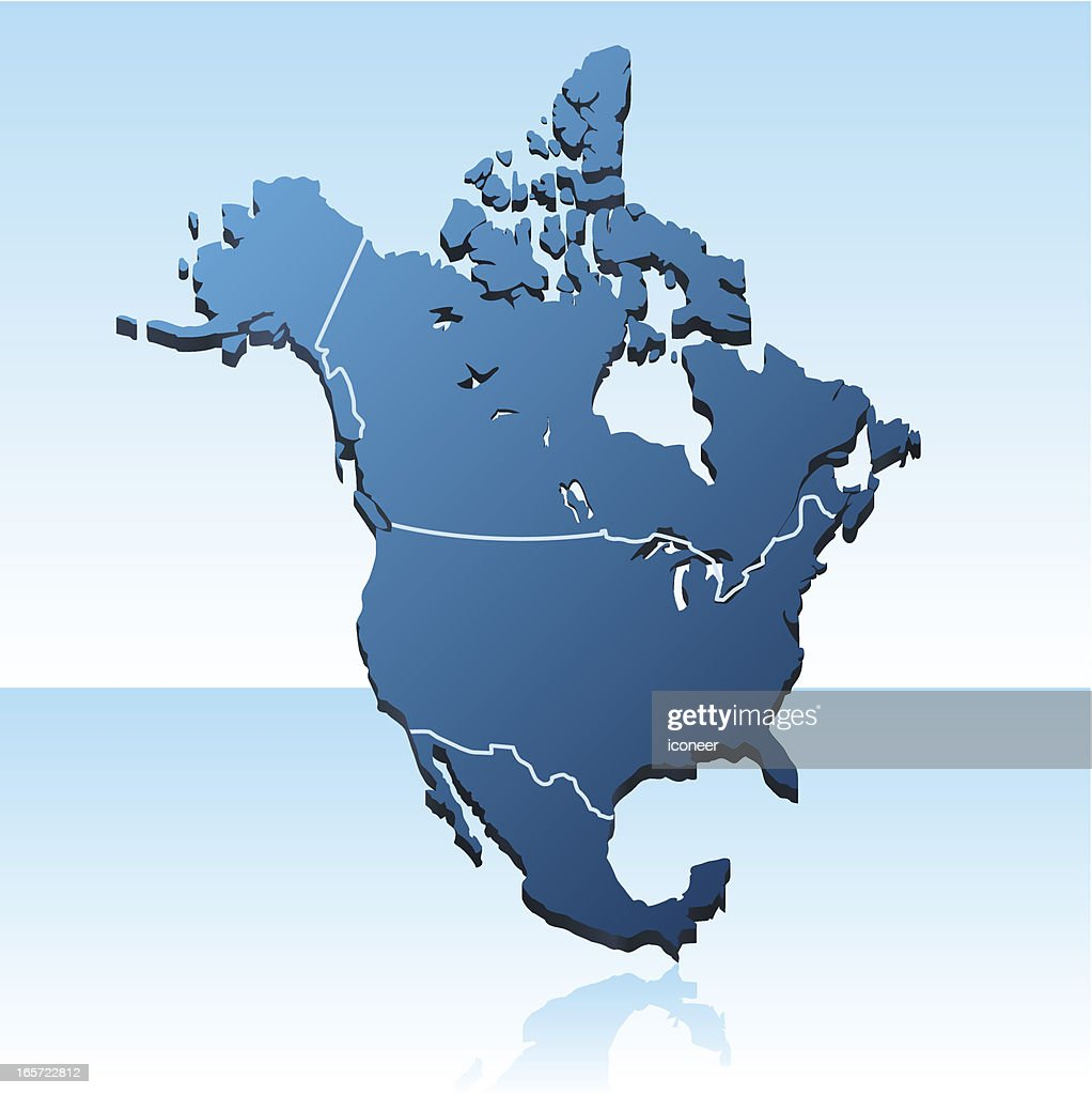 Map Of America 3d Vector.North America Map 3d Stock Illustration Getty Images