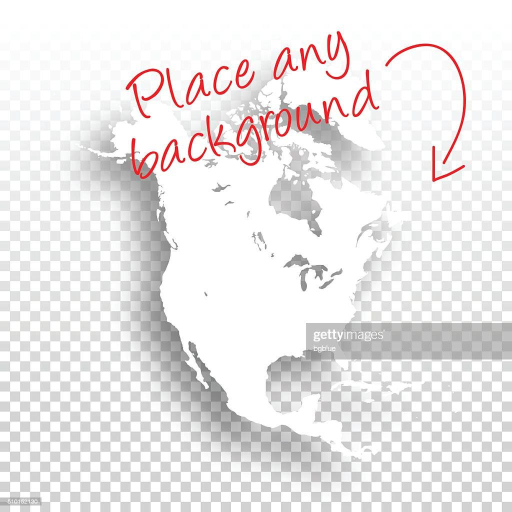 North America Map For Design Blank Background High-Res ...